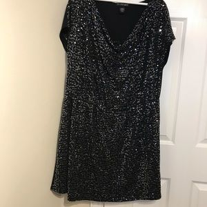 Lane Bryant Sequence Cowl Neck Tunic Dress